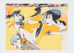 Remo Brindisi (1918-1996)Artiste peintre italienLithographie polychrome.Signé en bas à droite.Epoque