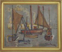 Roger Bertemes (1927-2006)Artiste peintre luxembourgeois, membre du CALHuile sur panneau encadrée,