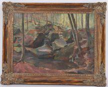 Jos Sunnen (1894-1969)Artiste peintre luxembourgeois, membre du CALHuile sur toile encadrée,