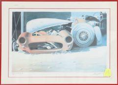 """""""Epave d'artiste"""" d'Alain Mirgalet (né en 1950)Artiste peintre automobileLithographie polychrome"""