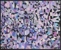 Fahr-El Nissa Zeid (1900-1991)Artiste peintre irakienneHuile sur toile, composition abstraite.