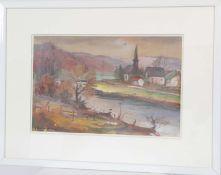 Théophile Steffen (né en 1921)Artiste peintre luxembourgeois, membre du CALGouache sur papier