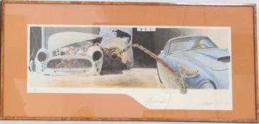 """""""La Métamorphose"""" d'Alain Mirgalet (né en 1950)Artiste peintre automobileLithographie polychrome"""