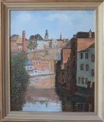 Victor Kremer (1900-1985)Artiste peintre luxembourgeoisHuile sur toile encadrée, représentant une