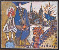 """""""Les fiancés de Manhattan"""" de Théo Tobiasse (1927-2012)Artiste peintre francais, né en"""