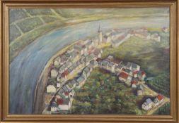 Lucien Straus Lustra (né en 1928)Artiste peintre luxembourgeoisHuile sur toile encadrée,
