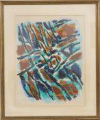 """""""L'Hiver"""" de Jean Le Moal (1909-2007)Artiste peintre françaisLithographie polychrome encadrée."""