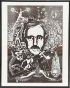 Pe'l Schlechter (né en 1921)Ecrivain, illustrateur et graphiste luxembourgeoisLithographie