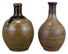 Two Japanese Sake Bottles – Meiji Period (19th Century)