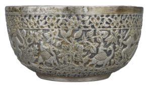 A Fine Chinese Straits Silver Bowl, 19th Century, H.G.Beasley Collection