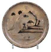 A Japanese Seto Ware Andon-Zara Dish – Edo Period