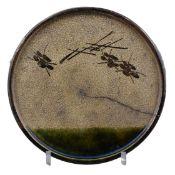 A Japanese Oribe Andon-Zara Dish – Edo Period