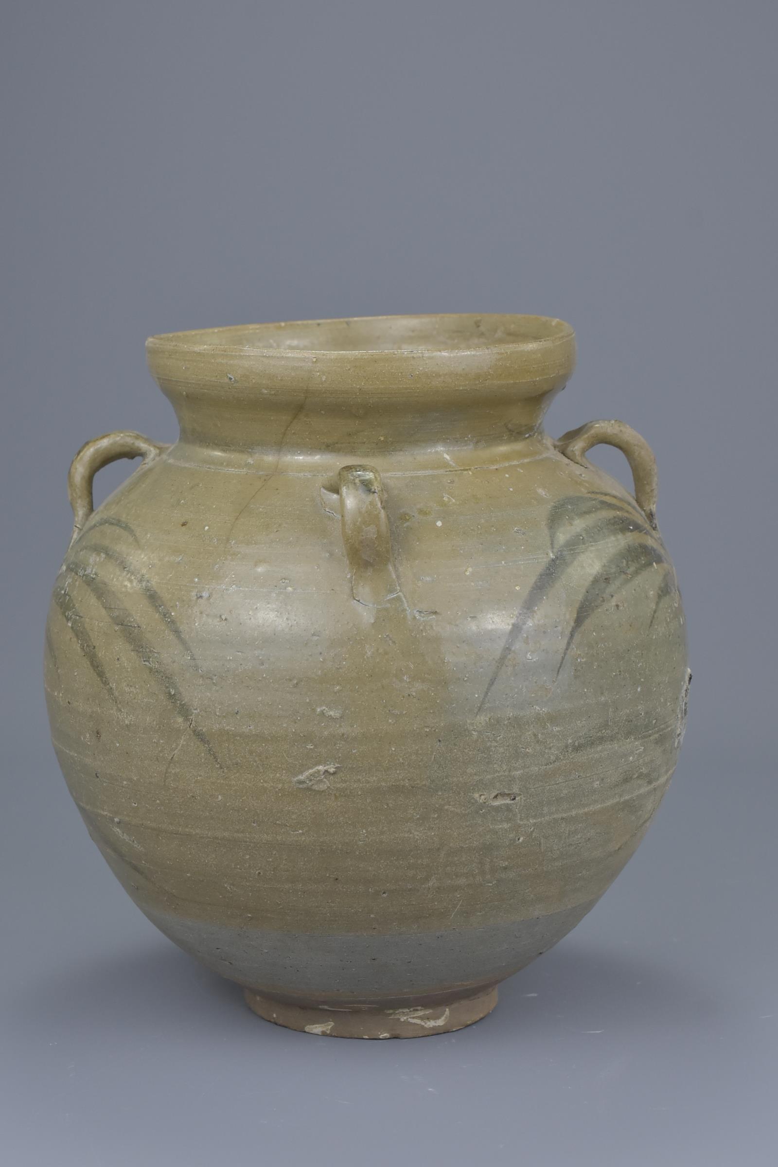 Lot 16 - A Rare Chinese Yuan Dynasty Underglazed Jar