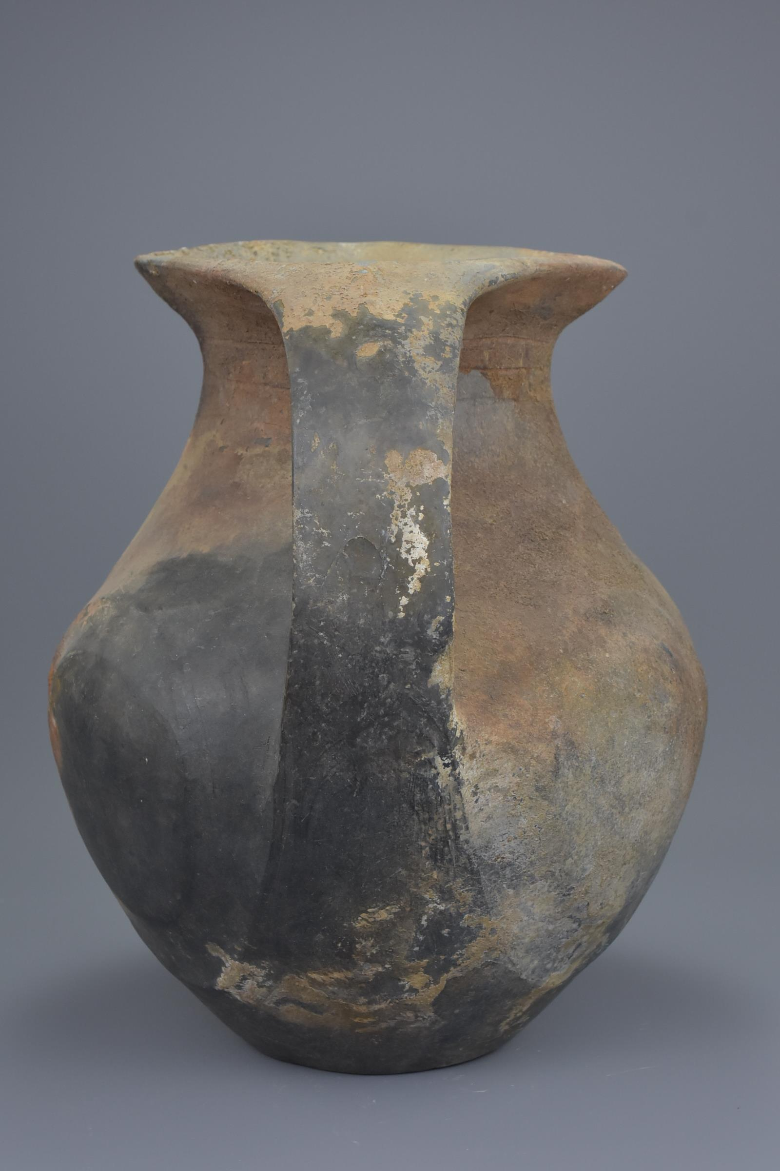 Lot 54 - A Rare Large Chinese Han Dynasty Black Pottery Amphora