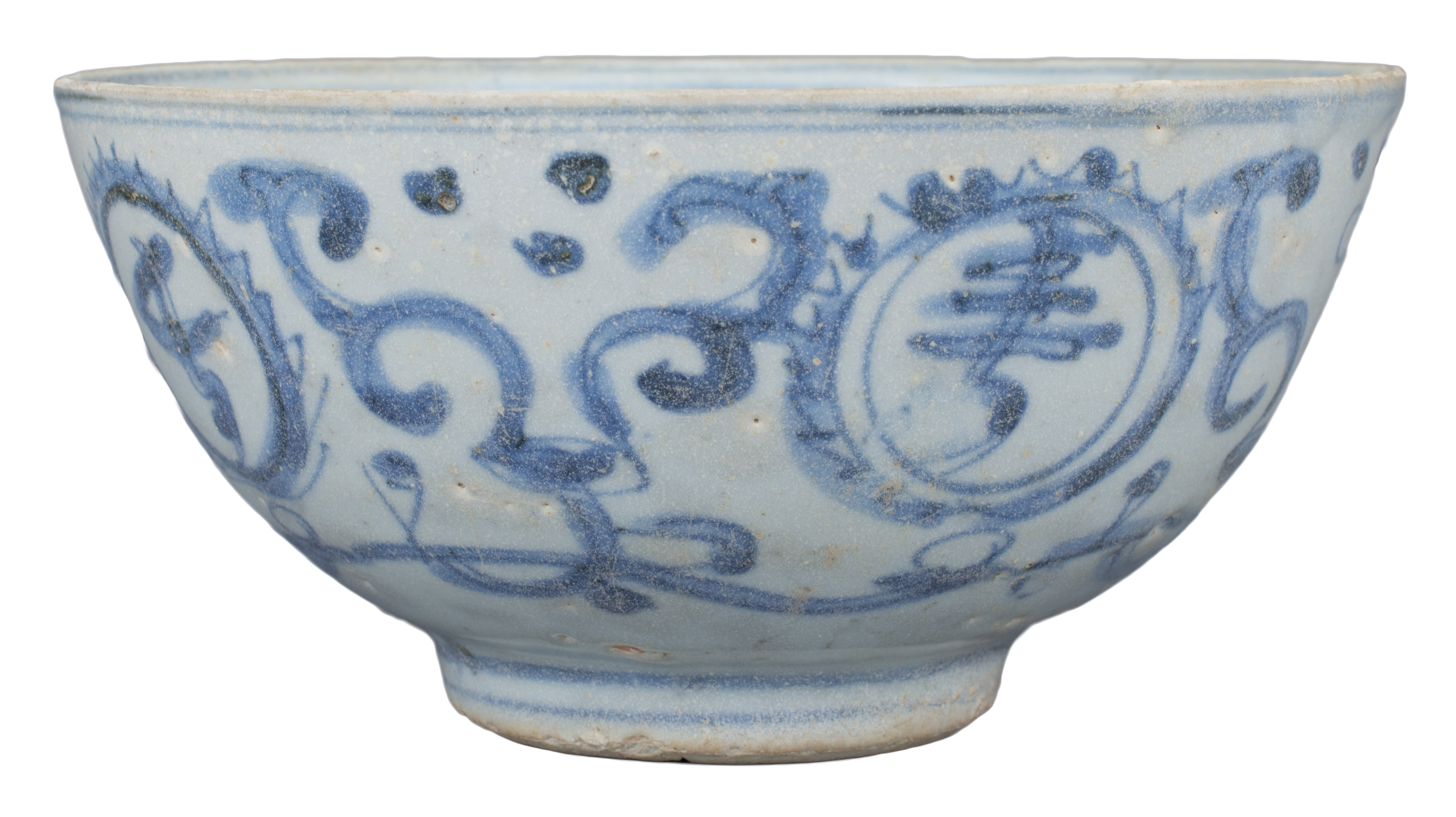 Lot 6 - A Rare Chinese Ming Dynasty Blue & White Porcelain Bowl