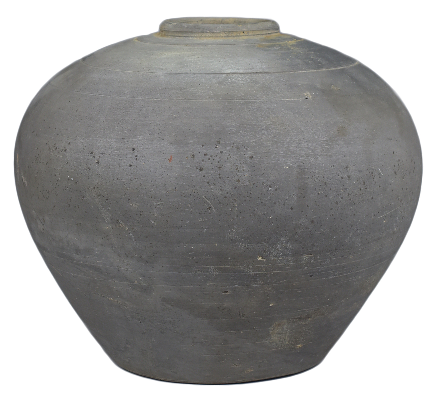 Lot 55 - A Fine Chinese Qin / Early Western Han Dynasty Burnished Pottery Jar