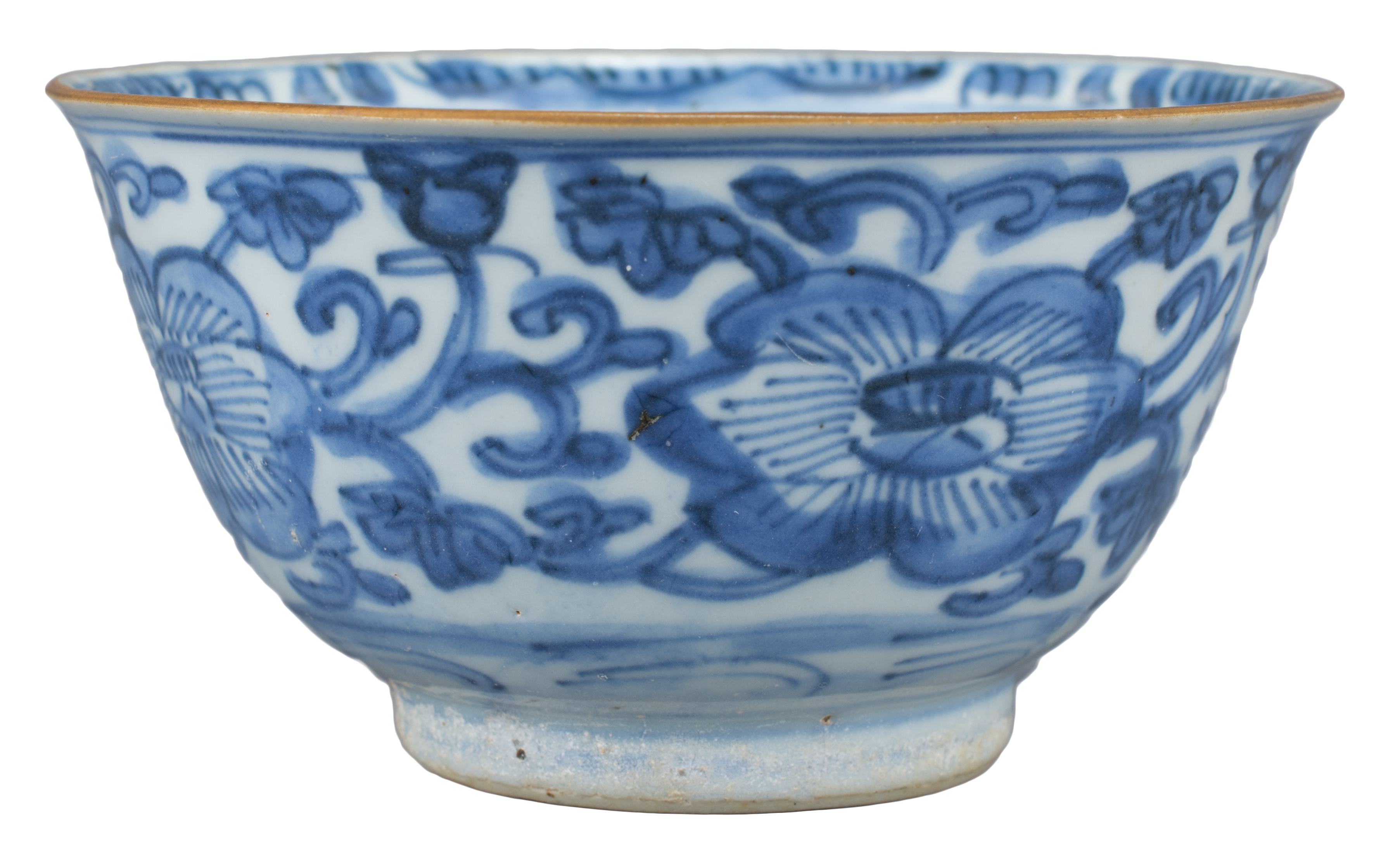 Lot 3 - A Good Chinese Transitional Blue & White Porcelain Bowl (17th Century)