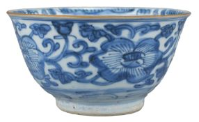 A Good Chinese Transitional Blue & White Porcelain Bowl (17th Century)
