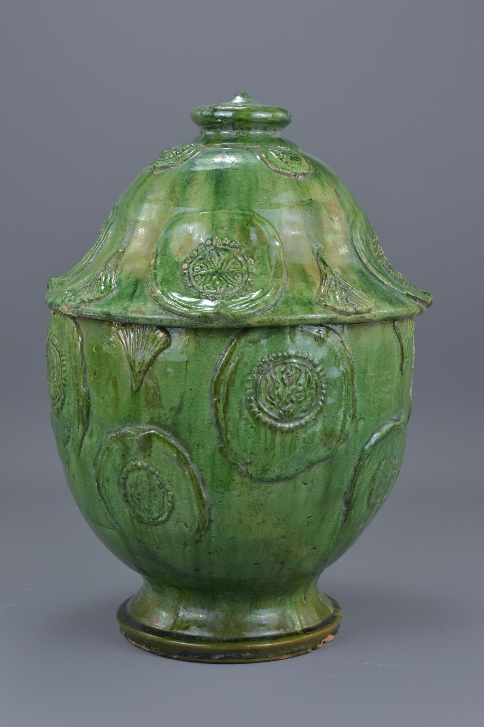 Lot 36 - A Fine Large Chinese Song Dynasty Glazed Buddhist Jar with Oxford TL Test