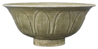 A Chinese Song Dynasty Celadon Glazed Porcelain Bowl