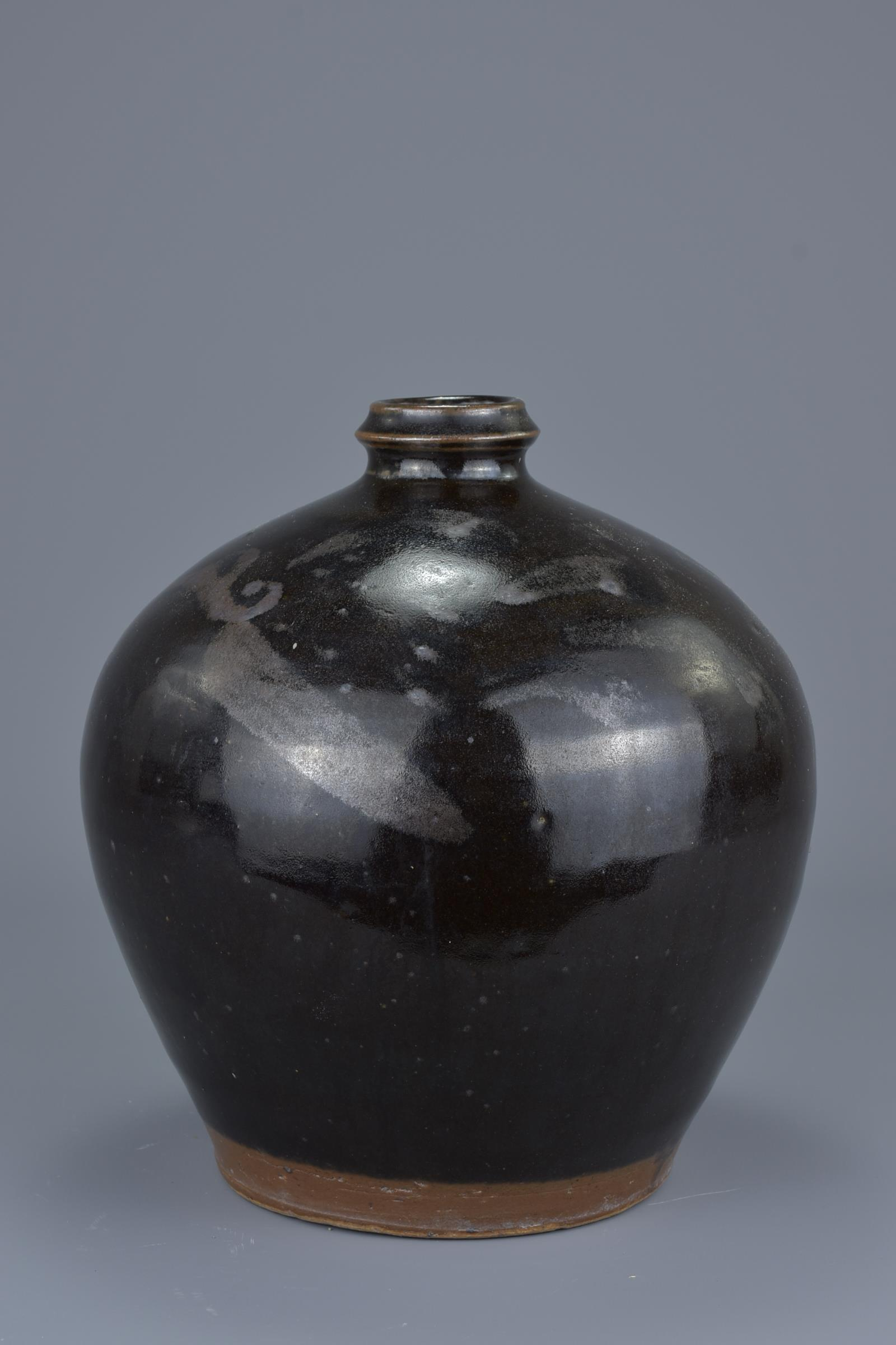 Lot 10 - A Chinese Cizhou type Ovoid Bottle with Bird Pattern – Ming Dynasty or Later
