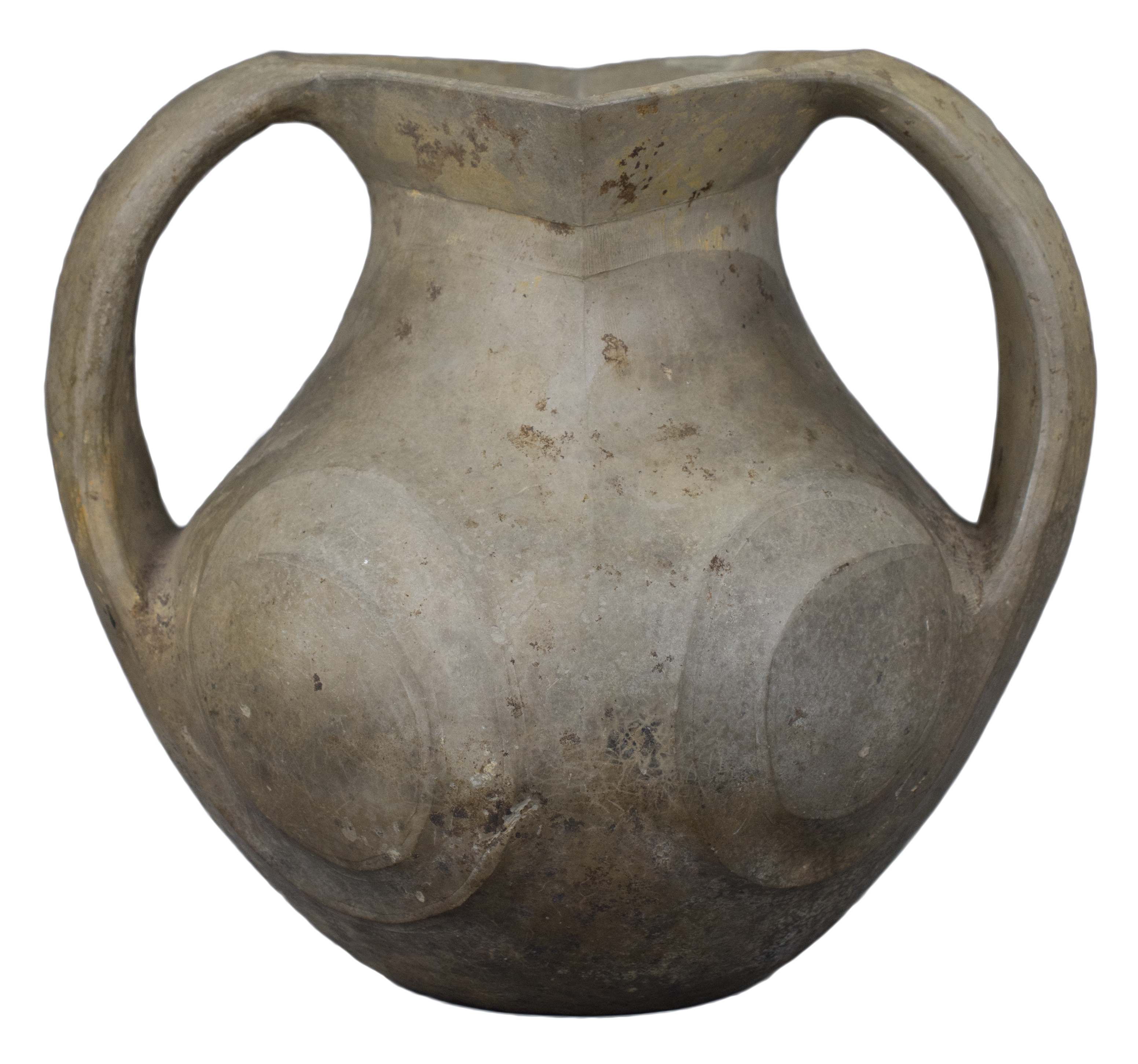 Lot 50 - A Chinese Han Dynasty Twin-Handled Pottery Amphora