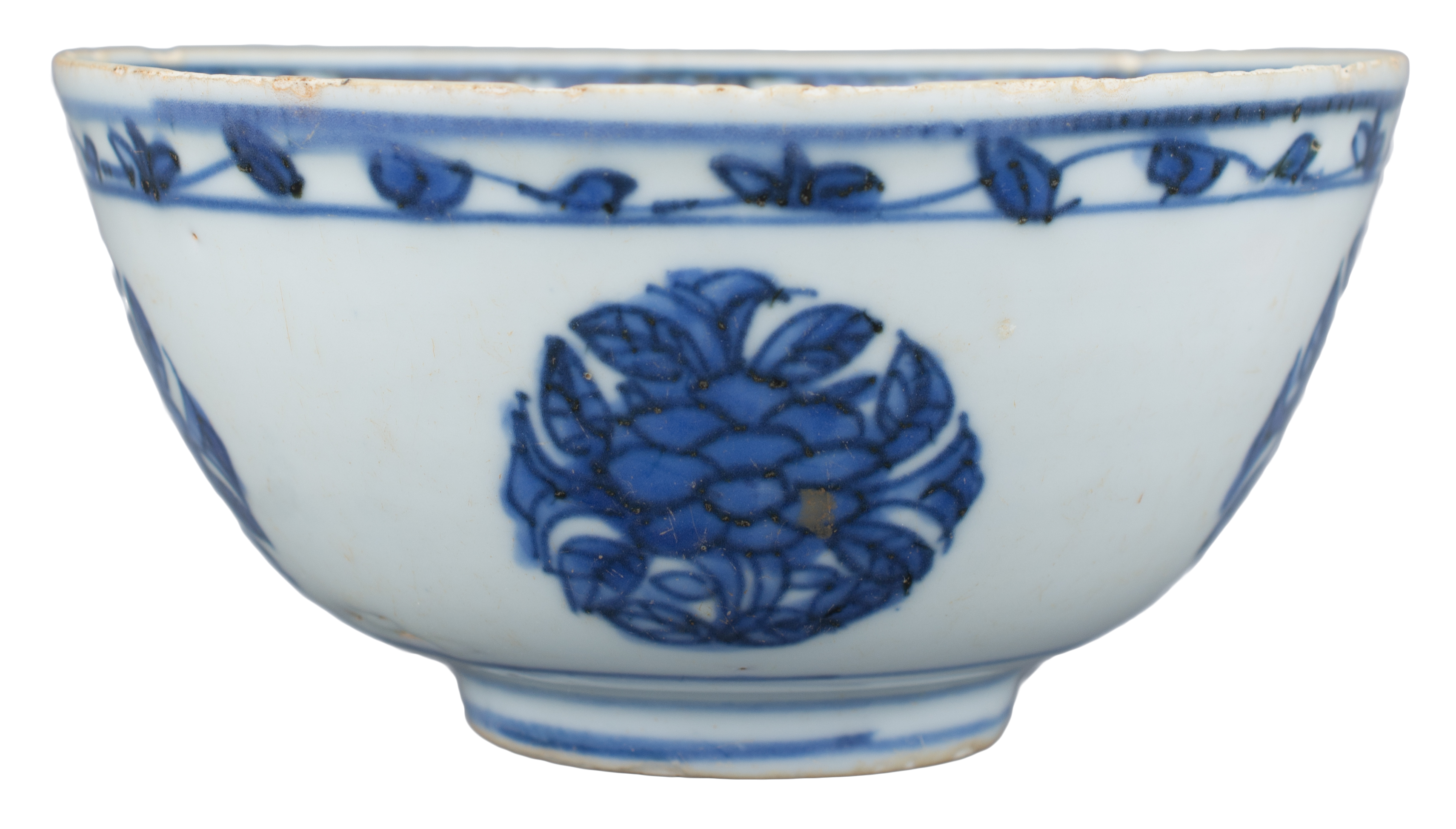 Lot 4 - A Chinese Ming Dynasty Blue & White Porcelain Bowl