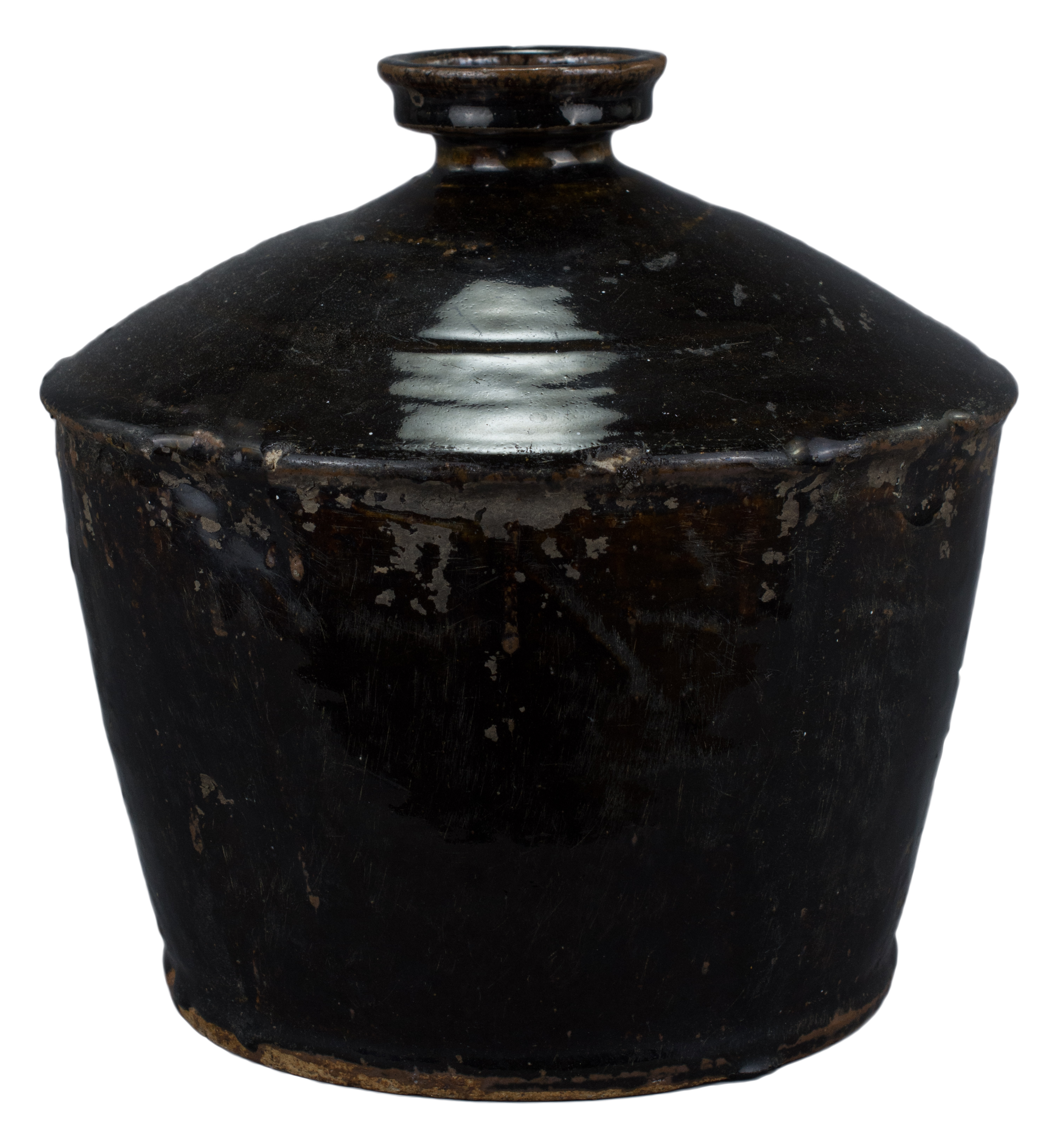 Lot 13 - A Chinese Yuan / Ming Dynasty Henan Glazed Stoneware Jar