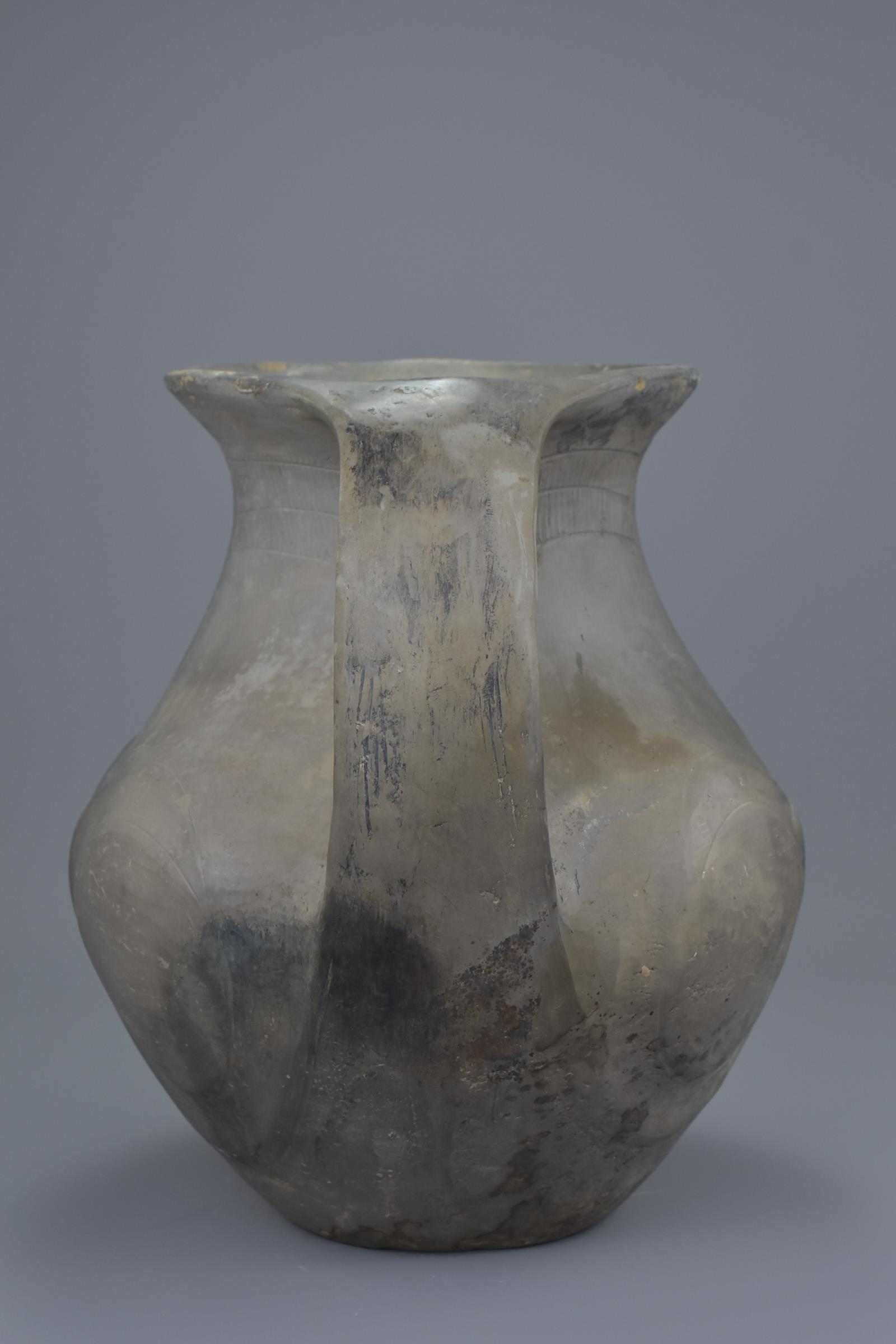 Lot 53 - A Rare Large Chinese Han Dynasty Black Pottery Amphora