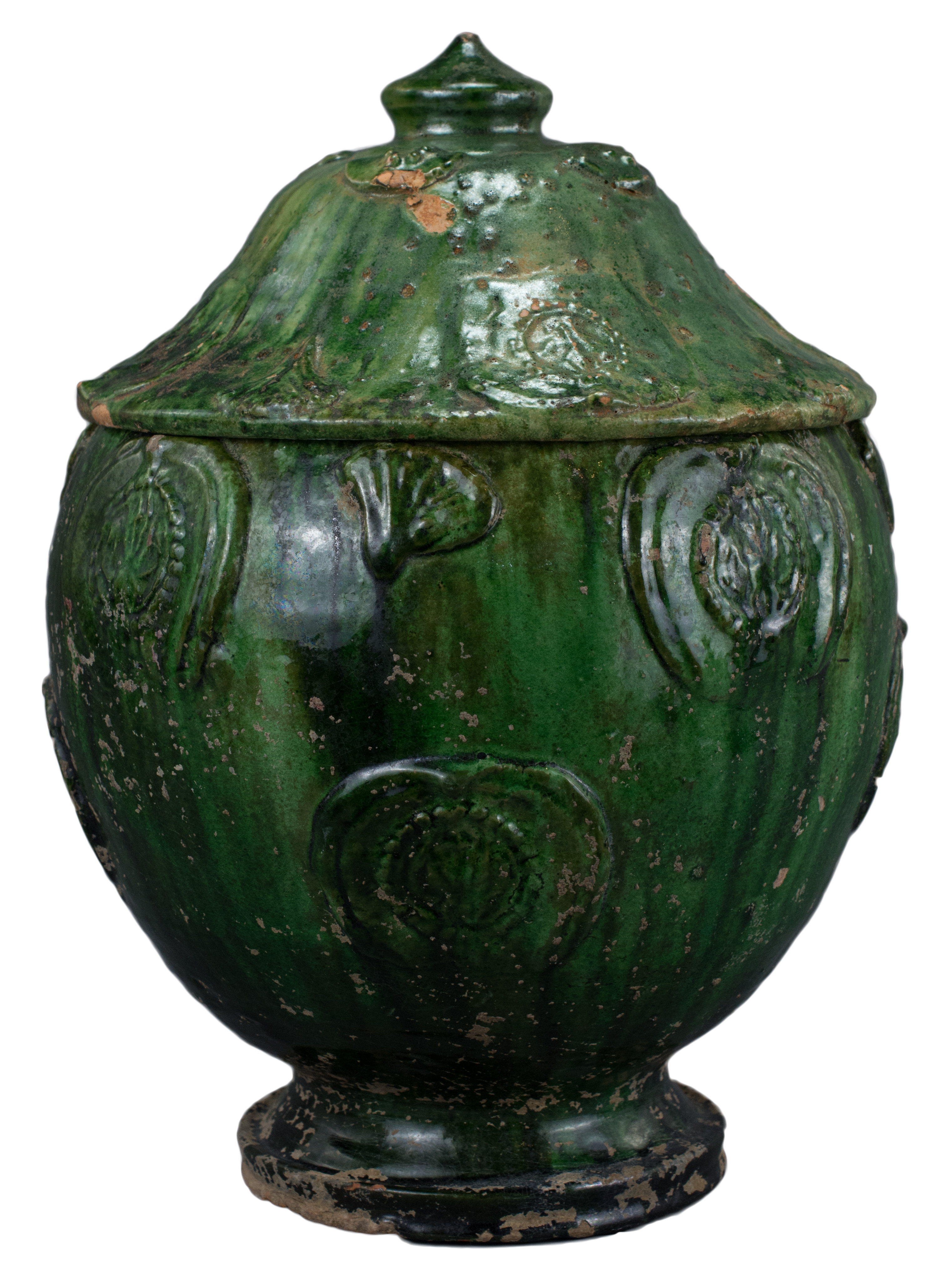 Lot 34 - A Fine Large Chinese Song / Yuan Dynasty Glazed Buddhist Jar