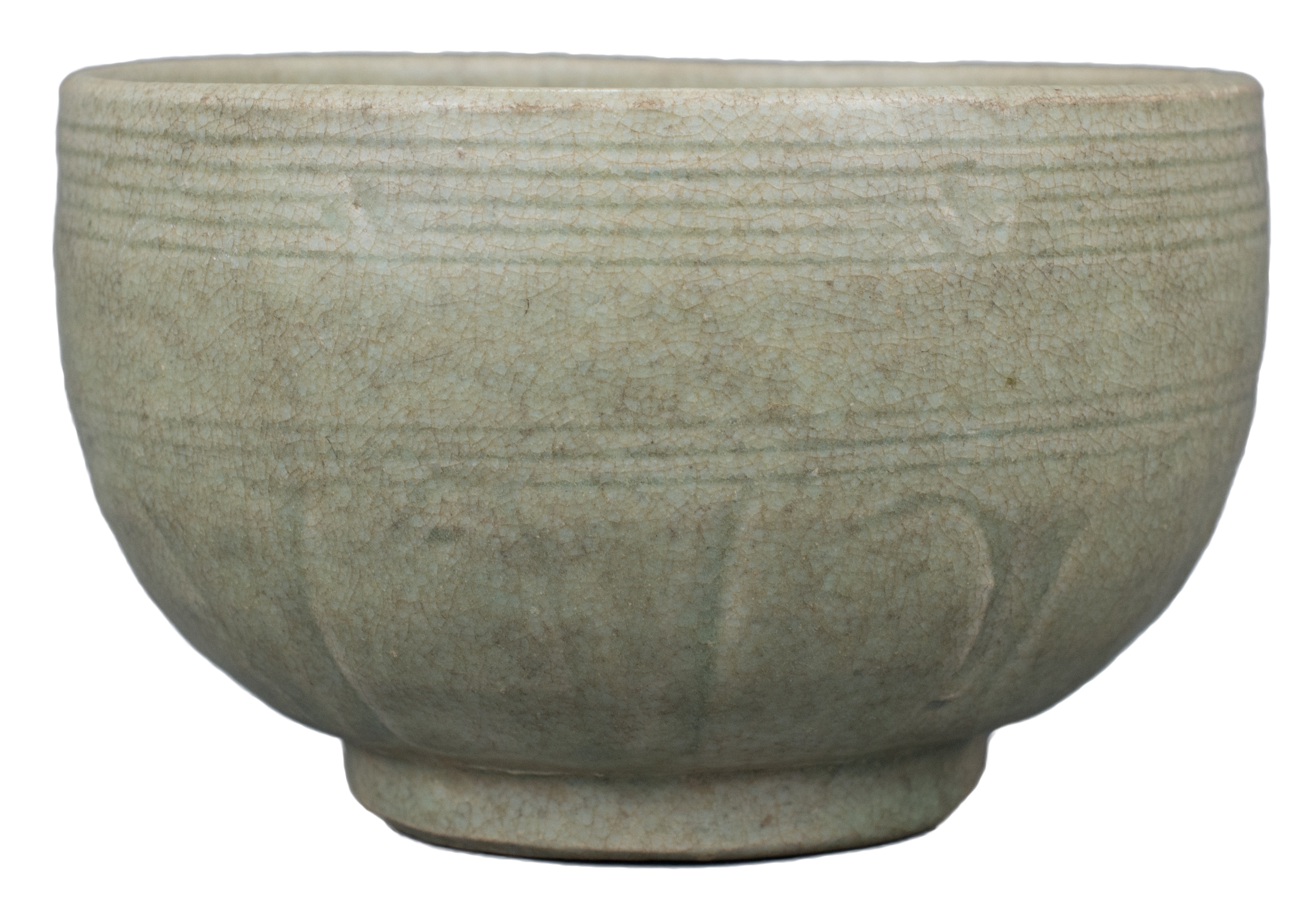 Lot 22 - A Chinese Longquan Celadon Porcelain Alms Bowl – Song / Yuan Dynasty