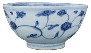 A Fine Chinese Ming Dynasty Blue & White Porcelain Bowl – Jiajing reign