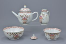 Chinese 18th C. Famille rose porcelain items