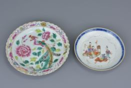 A Chinese 18th C. Famille rose porcelain saucer