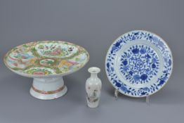 A Chinese 18th C. blue and white porcelain dish