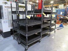 (6) Nexel Roll-Around Shelving Units/Parts Carts