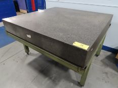 """Granite Surface Plate w/ Stand 5' x 5' x 8.5"""""""