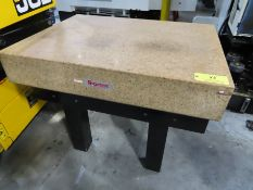 """Starrett Crystal Pink Granite Surface Plate w/ Stand 36"""" x 48"""" x 8"""" Grade A Inspection"""