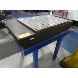 """Granite Surface Plate w/ Stand 30"""" x 48"""" x 6"""" Two Ledge"""