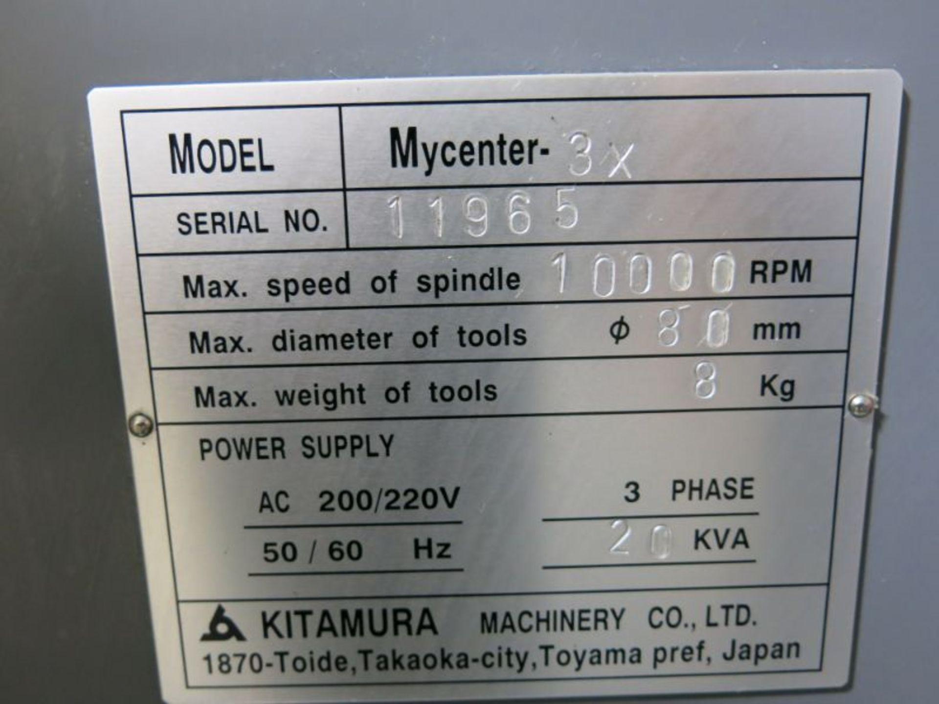 1998 Kitamura Mycenter 3X CNC VMC - Image 6 of 6