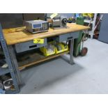 (2) 2-Drawer Butcher Block Top Work Benches