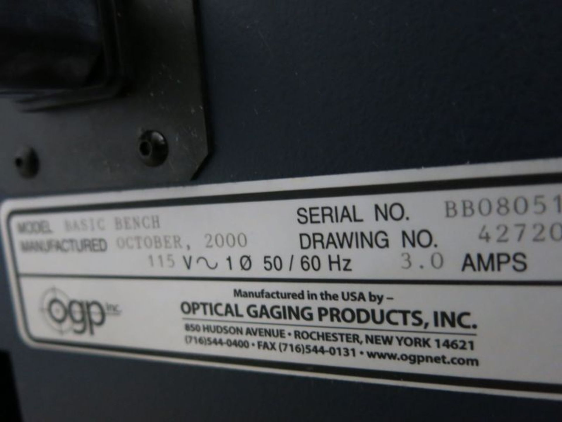 Optical Gaging Products Optical Comparator - Image 3 of 4