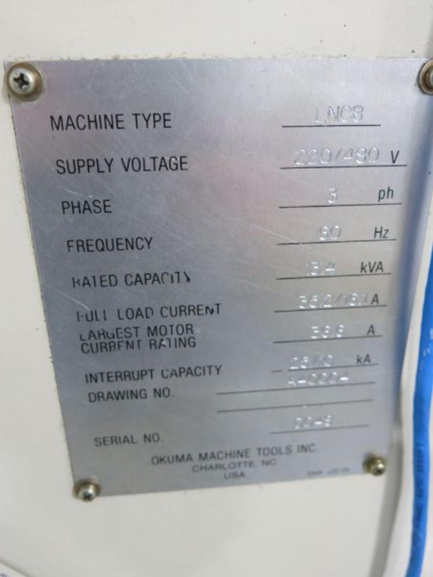 1997 Okuma Cadet LNC8 CNC Turning Center - Image 7 of 7