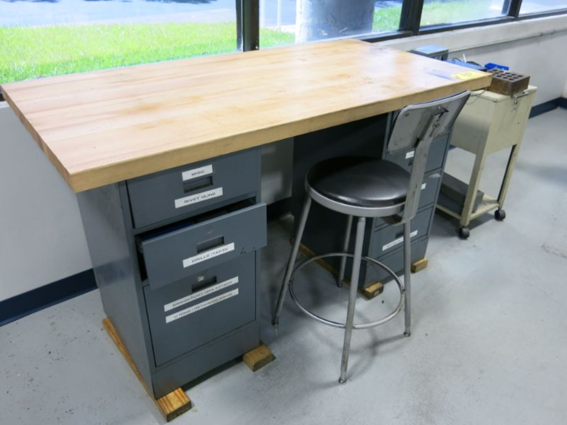 Work Bench & Cabinet - Image 2 of 3