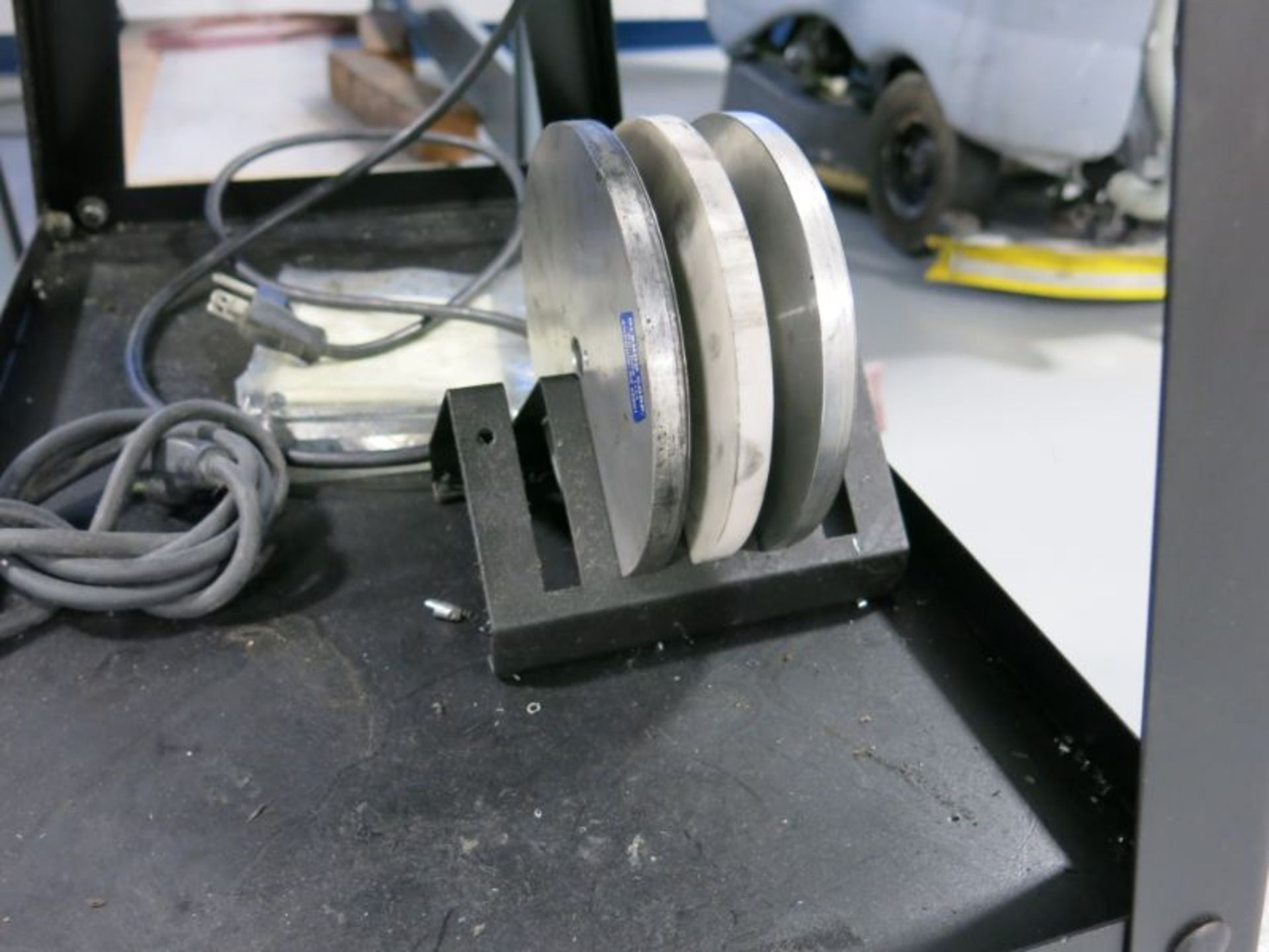 Accu-Finish Series-2 Carbide Grinder with Spare Carbide Discs and Stand - Image 2 of 2