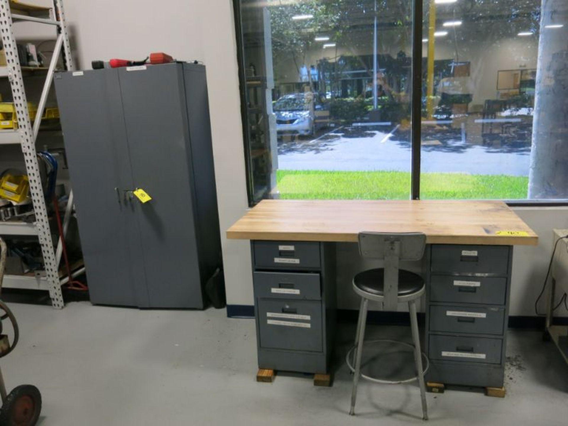 Work Bench & Cabinet