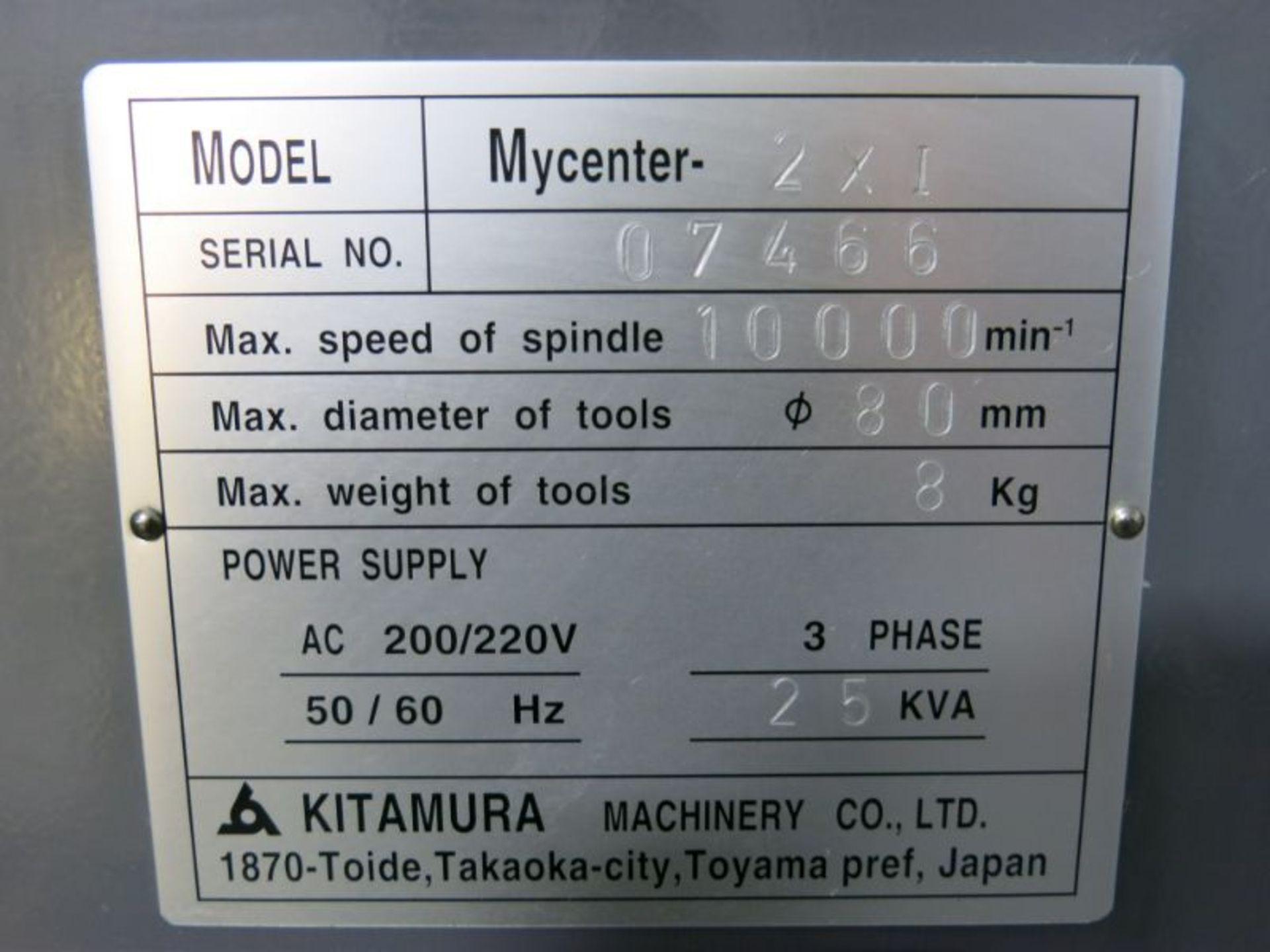 2001 Kitamura Mycenter 2XI CNC VMC - Image 5 of 5