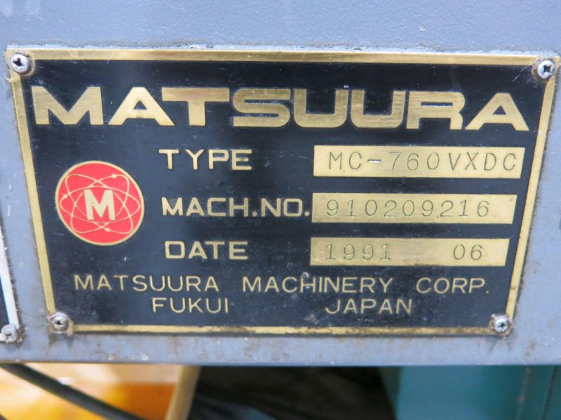 1991 Matsuura MC-760VX-DC Twin Spindle CNC VMC - Image 5 of 5
