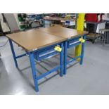 """(2) Global 48"""" x 30"""" Single Drawer HD Work Benches"""
