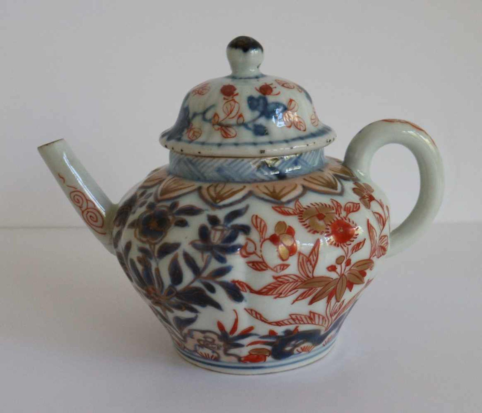 Los 3 - Chinese teapot Imari H 10 B 12,5 cm